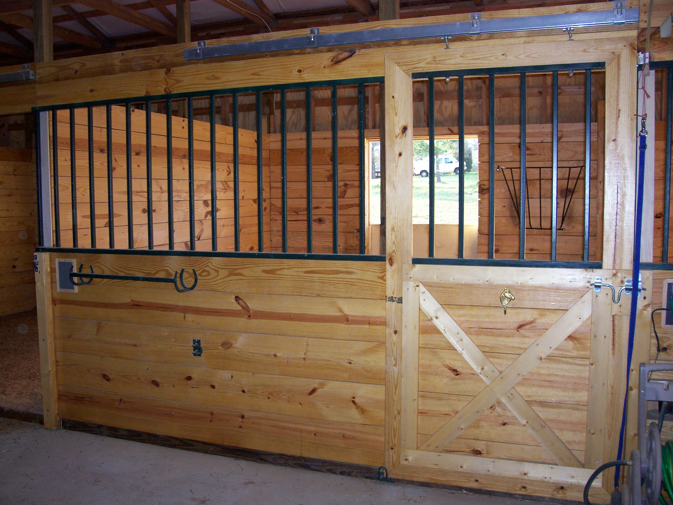 M and R Stables - Clean Stall in Barn