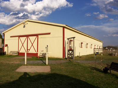 M and R Stables - Red Trim Barn